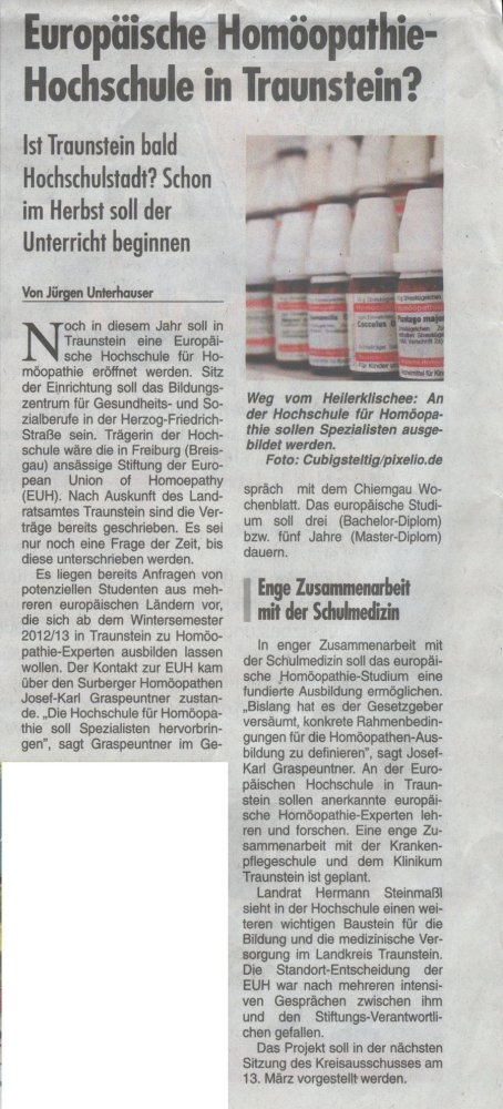 Homöopathie-Esoterik-Hochschule in Traunstein? Bitte nicht! (2/4)